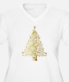 Gold Christmas Tree Plus Size T-Shirt