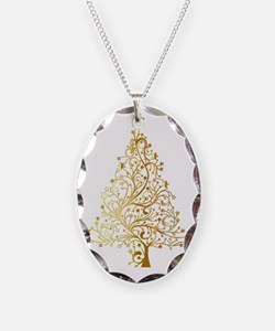 Gold Christmas Tree Necklace