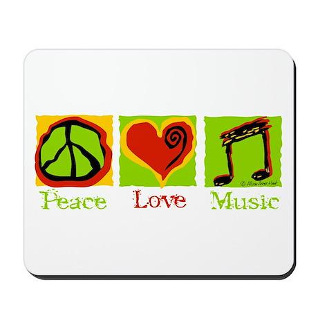 Peace Love Music Mousepad