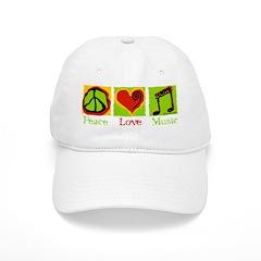 Peace Love Music Baseball Cap