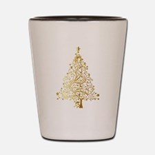 Gold Christmas Tree Shot Glass