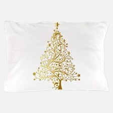 Gold Christmas Tree Pillow Case