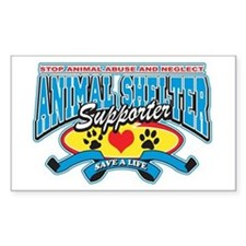 Animal Shelter Supporter Rectangle Decal
