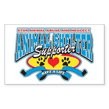 Animal Shelter Supporter Rectangle Sticker