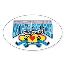Animal Shelter Supporter Oval Decal