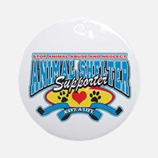 Animal Shelter Supporter Ornament (Round)