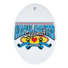 Animal Shelter Supporter Oval Ornament