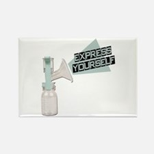 Express Yourself Breastfeeding Rectangle Magnet