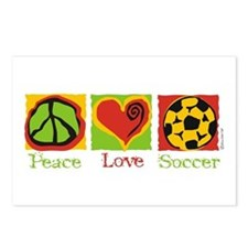 Peace Love Soccer Postcards (Package of 8)