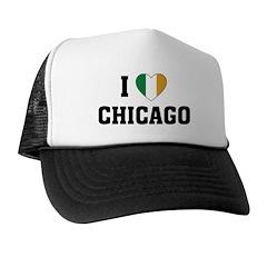 I Love Chicago Irish Trucker Hat