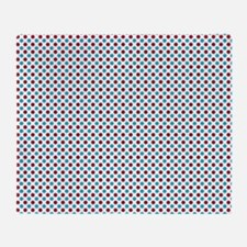 Red and Turquoise Polka Dots Throw Blanket