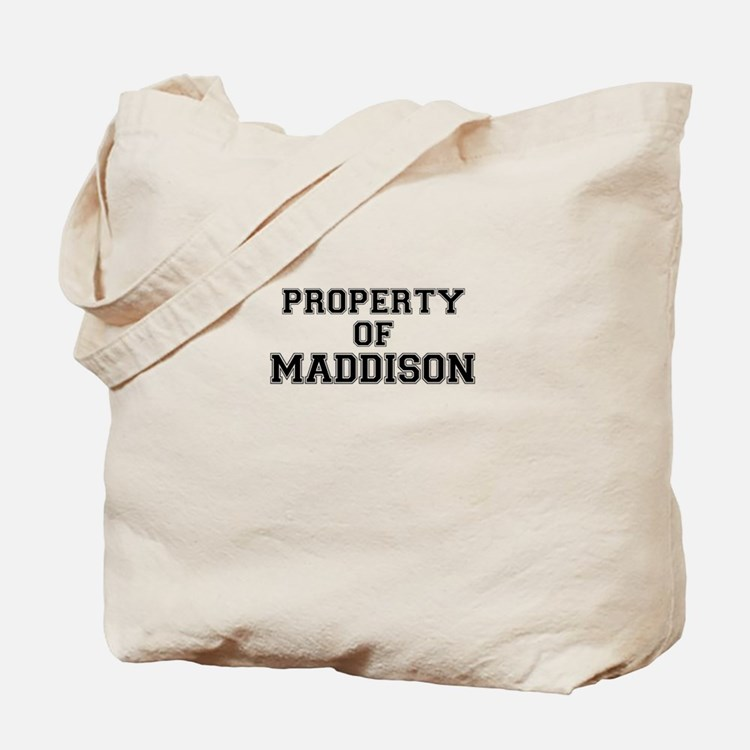 Property of MADDISON Tote Bag