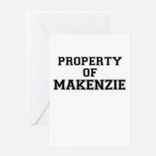 Property of MAKENZIE Greeting Cards