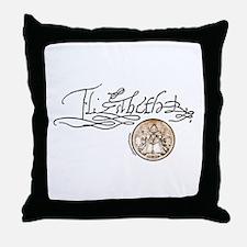Elizabeth I Signature Throw Pillow
