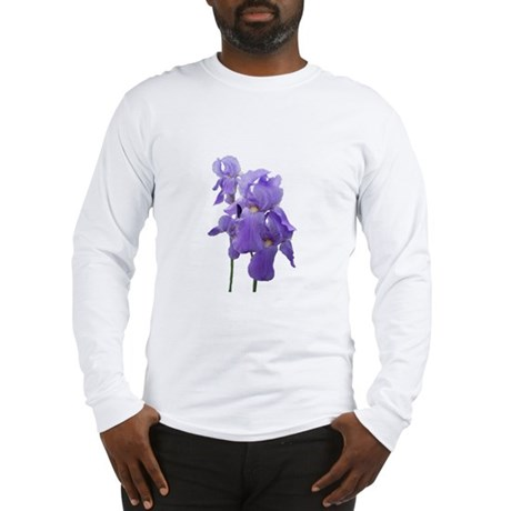 Purple Iris Photographic Art Long Sleeve T-Shirt