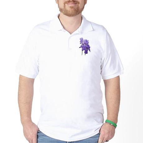 Purple Iris Photographic Art Golf Shirt
