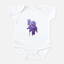 Purple Iris Photographic Art Infant Bodysuit