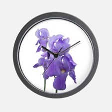 Purple Iris Photographic Art Wall Clock