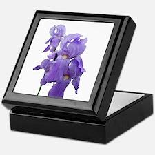 Purple Iris Photographic Art Keepsake Box