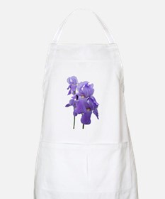 Purple Iris Photographic Art BBQ Apron
