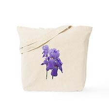 Purple Iris Photographic Art Tote Bag
