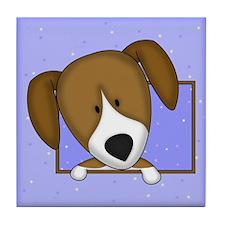 Cartoon Beagle Tile Coaster