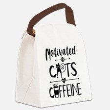 Coffee and Cats - Crazy Cat Lady Canvas Lunch Bag