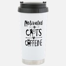 Coffee and Cats - Crazy Cat Lady Travel Mug