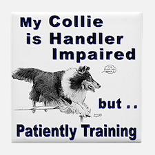 Collie Agility Tile Coaster