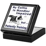 Collie Agility Keepsake Box