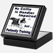 Collie Agility Keepsake Box