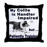 Collie Agility Throw Pillow