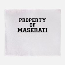 Property of MASERATI Throw Blanket