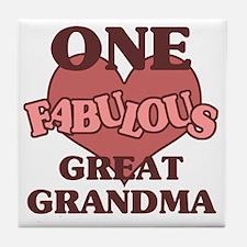 Cute Special great grandma Tile Coaster