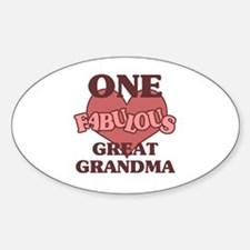 Unique Special great grandma Sticker (Oval)