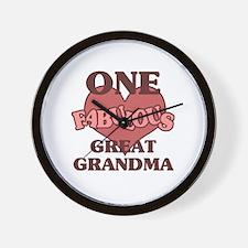 Cute Special great grandma Wall Clock