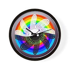 Peace Rainbow Wall Clock