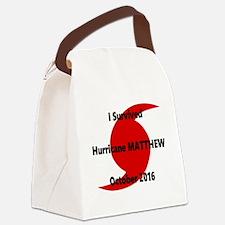 Hurricane Matthew Survivor Canvas Lunch Bag
