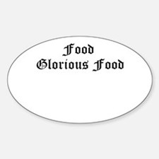 Food Glorious Food old english Decal