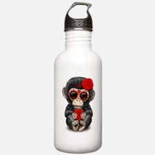 Red Day of the Dead Sugar Skull Baby Chimp Water B