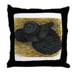 Black Bokhara Pigeon Throw Pillow