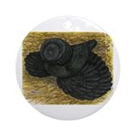 Black Bokhara Pigeon Ornament (Round)