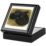 Black Bokhara Pigeon Keepsake Box
