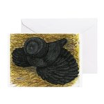 Black Bokhara Pigeon Greeting Card