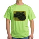 Black Bokhara Pigeon Green T-Shirt