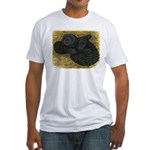Black Bokhara Pigeon Fitted T-Shirt