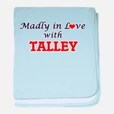 Madly in love with Talley baby blanket
