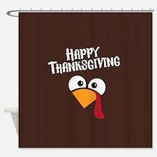 Thanksgiving Turkey Shower Curtain