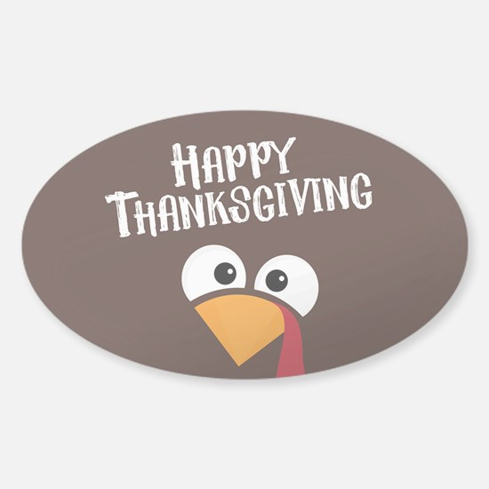 Thanksgiving Turkey Sticker (Oval)
