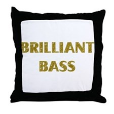 Brilliant Bass Throw Pillow